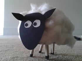 幼儿怎么手工制作小绵羊的方法教程