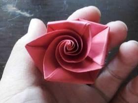 简单卷心玫瑰花怎么折的图解步骤