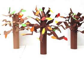 怎么用卡纸手工制作植树节大树的方法教程