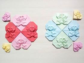 怎么折纸心花怒放的折法过程图解