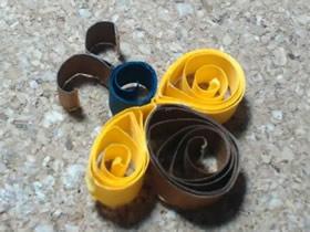 怎么做衍纸小蜜蜂的简单手工制作图解教程