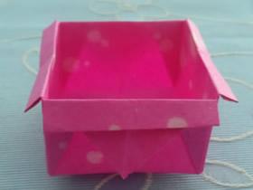 怎么简单折纸四方垃圾收纳盒的折法图解