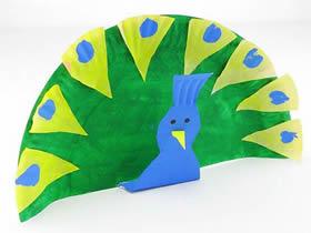 怎么做纸盘孔雀的简单手工制作图解教程