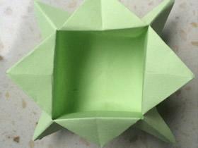 简单折纸收纳纸盒怎么折的过程步骤图解