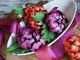 怎么做立体彩纸菊花的简单手工教程
