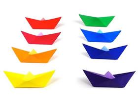 儿童手工折纸彩虹纸船怎么折的图解教程