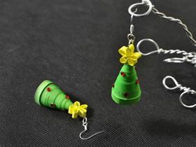 怎么手工做衍纸圣诞树耳环的方法图解