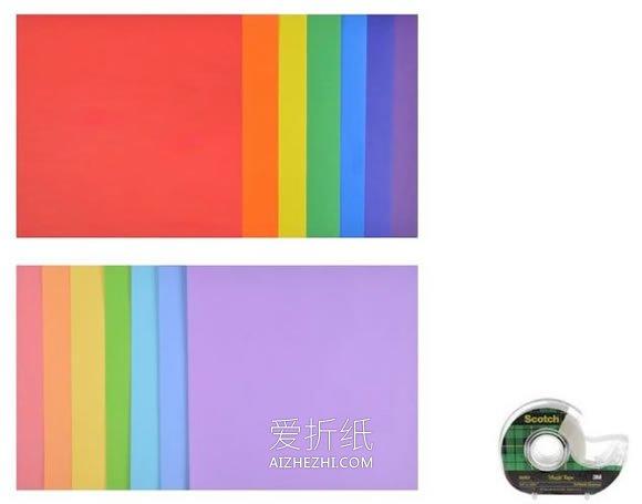 [视频]怎么用折纸飞机手工制作彩虹墙饰的方法- www.aizhezhi.com