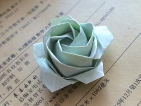 怎么手工折叠立体玫瑰花的折法过程步骤