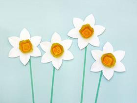 怎么简单做鸡蛋托水仙花的手工教程