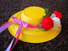 纸盘和纸碗怎么废物利用 手工制作儿童太阳帽