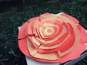 简单又漂亮纸花怎么做的制作方法教程