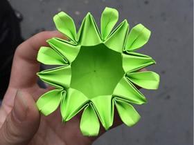 手工纸花盒怎么折的图解教程
