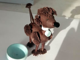 怎么做衍纸小狗的制作方法图解教程