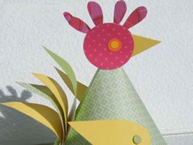 怎么简单做卡纸大公鸡的手工制作教程