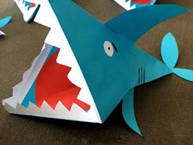 幼儿园怎么做彩纸鲨鱼的手工制作教程
