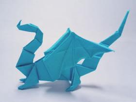 怎么折纸立体飞龙的折法步骤图解
