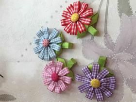 怎么做缎带花发夹的制作方法图解教程