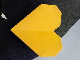 简单纸心怎么折的图解教程