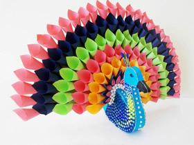 儿童怎么做美丽立体孔雀的手工制作教程