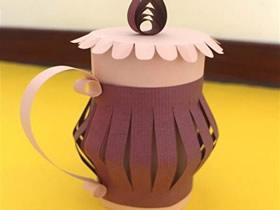 怎么用卡纸做装饰花瓶的手工制作教程