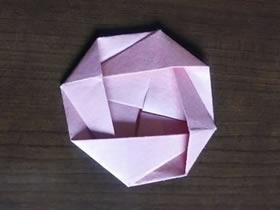 怎么简单快速折纸玫瑰花的折法图解步骤