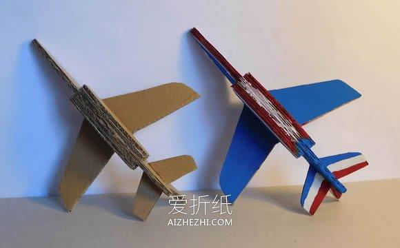 小学生做的新年贺卡_怎么做瓦楞纸飞机模型的手工制作教程_爱折纸网