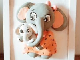 母亲节礼物:怎么做超轻粘土大象妈妈和宝宝