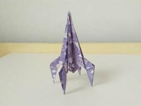 怎么简单折纸火箭的折法图解教程