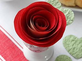 怎么做纸玫瑰花最简单的制作方法图解