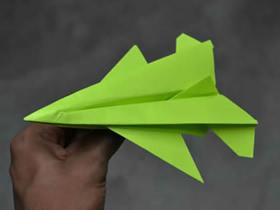 怎么折纸F-16战斗轰炸机的折法图解步骤