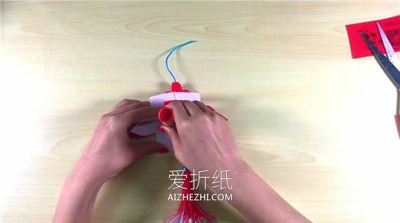 怎么剪纸新年立体春字装饰的剪法图解步骤- www.aizhezhi.com