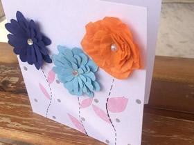怎么做母亲节花朵贺卡的方法步骤简单
