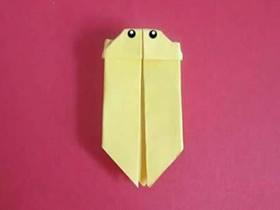 幼儿怎么简单折纸萤火虫的折法图解教程