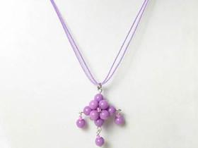 怎么做紫色吊坠项链的制作方法图解教程