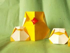 折纸嘴巴可以动的小鸟怎么折的图解教程
