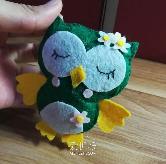 小学生做的新年贺卡_怎么做猫头鹰布偶的手工制作图解教程_爱折纸网