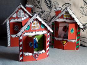 怎么做圣诞节小房子纸相框的手工制作教程