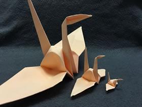 怎么折千纸鹤的详细折法过程图解