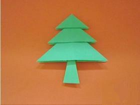 最简单圣诞树怎么折的图解教程