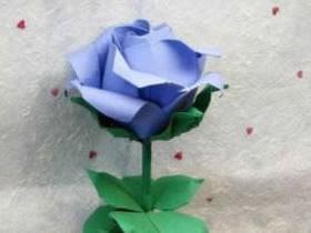 怎么折纸复杂PT玫瑰花的折法过程图解