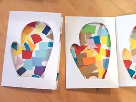 怎么做创意手套图案新年贺卡的制作方法