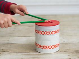 怎么用奶粉罐做儿童玩具鼓的手工制作方法