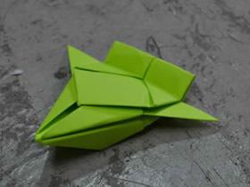 怎么简单折纸太空飞船的折法步骤图解