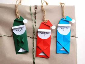 怎么做圣诞节礼物盒圣诞老人装饰的制作方法