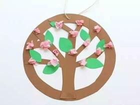 怎么用硬纸板做植树节大树挂饰的制作方法