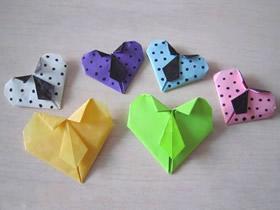 怎么折纸简单又可爱领带心的折法图解教程