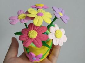 怎么做可爱粘土花盆栽的制作方法步骤图