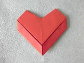 怎么折纸七夕节情书爱心的折法图解教程