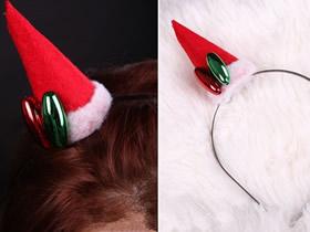 怎么做可爱圣诞派对圣诞帽发箍的制作方法
